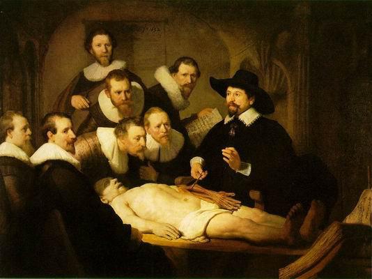 La leçon d'anatomie de Rembrandt(1632)