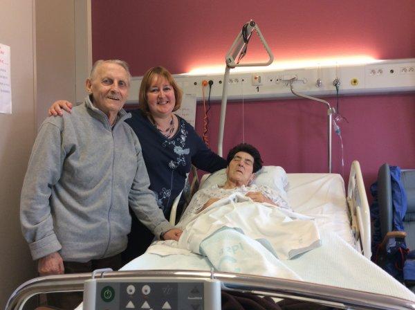 Visite de Nona à l'hôpital le dimanche 13 avril 2014