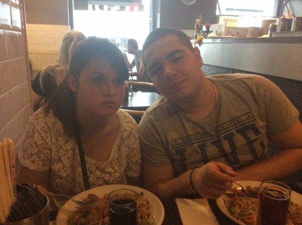 Restaurant avec Domenico et ma fille le vendredi 22/08/2014