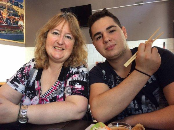 Restaurant avec Domenico et ma fille le vendredi 10/04/2015