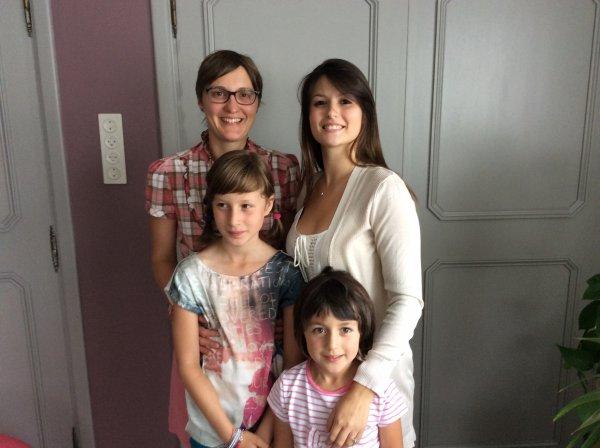 Chez ma soeur Renée le samedi 25 juillet 2015 avec Claire,Virginie et deux de ses filles Camille et Alice