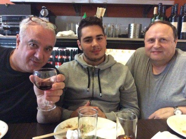 Restaurant avec Domenico,ses parents,ma fille et mon mari le mardi 28/07/2015,