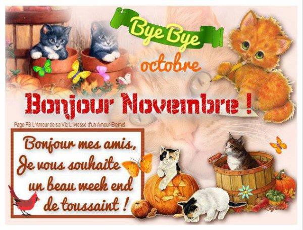 ♣ ......BON NOVEMBRE A TOUS ......♣ et un beau week-end de toussaint