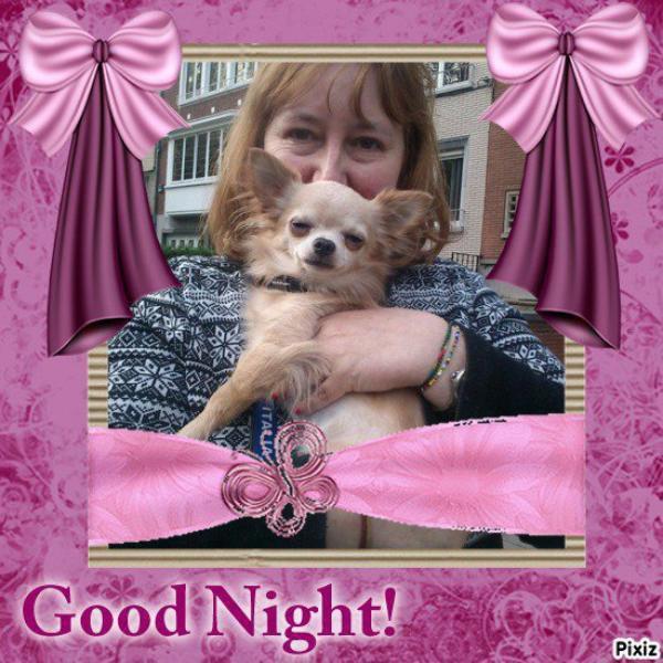 Je vous souhaite une excellente soirée  et une douce nuit