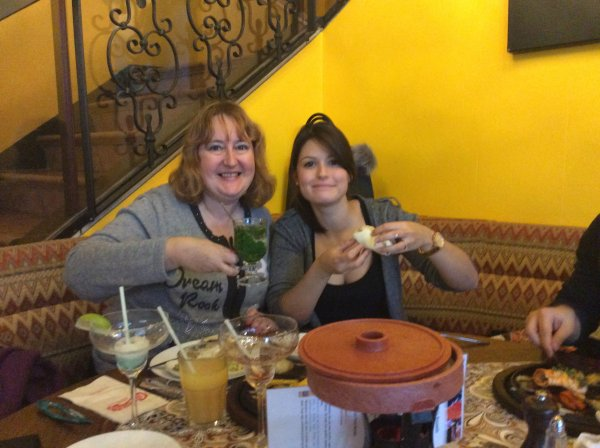 Restaurant au Chi-Chi's Anspach avec Domenico et ma fille le samedi 19/11/2016 2