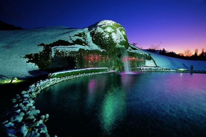 La Fontaine du Crystal Worlds Centre de Swarovski Situé à Innsbruck en Autriche.