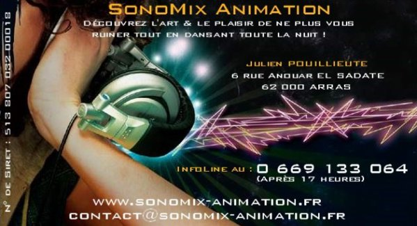 Decouvrez La Carte De Visite Societe SonoMix Animation