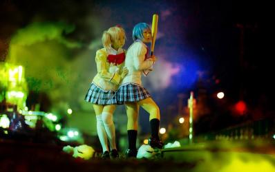 Madoka & Miki Sayaka - Puella Magi Madoka Magica