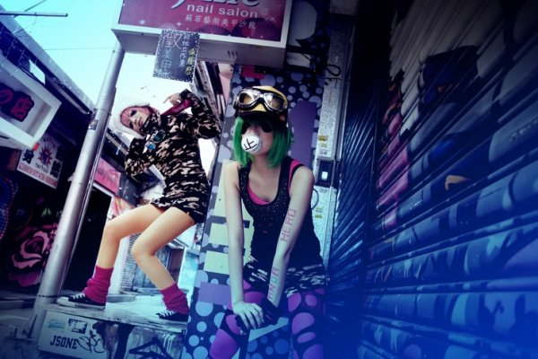 Gumi & Luka (panda hero) - Vocaloid