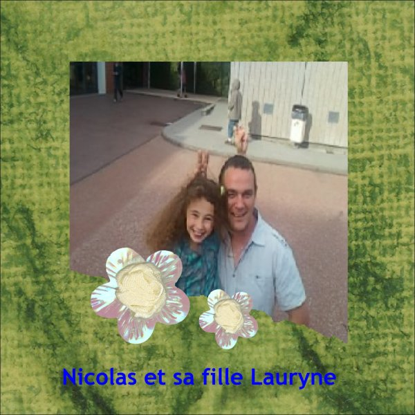Nicolas et sa fille Lauryne