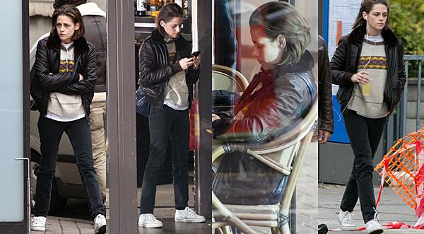 . Kristen sur le tournage de 'Personal Shopper' à Paris, le 03 novembre 2015. ... .