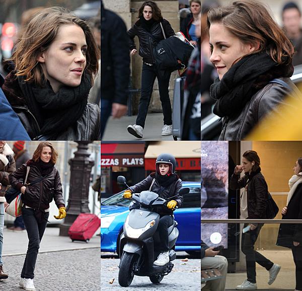 . Kristen sur le tournage de 'Personal Shopper' à Paris, le 04 novembre 2015. ... .