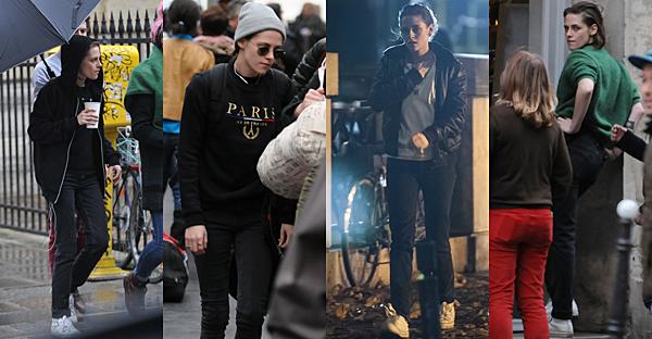 . Kristen sur le tournage de 'Personal Shopper' à Paris, le 06 novembre 2015. ... .