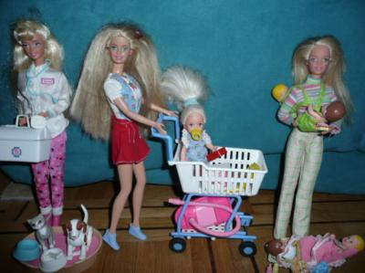 Barbie v t rinaire barbie fait les courses barbie nounou - Barbie veterinaire ...