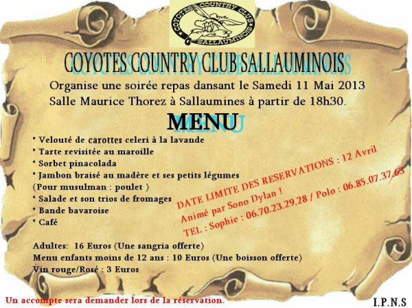 Les coyotes country club Sallauminois
