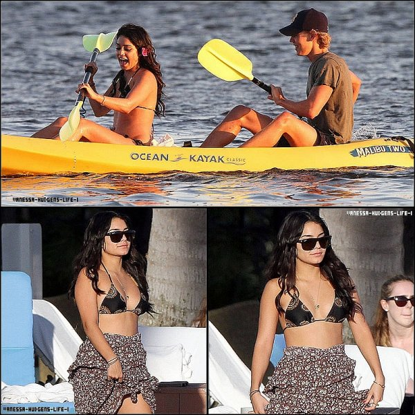 21.01.12: Vanessa allant au restaurant avec des amis à Hawaii.