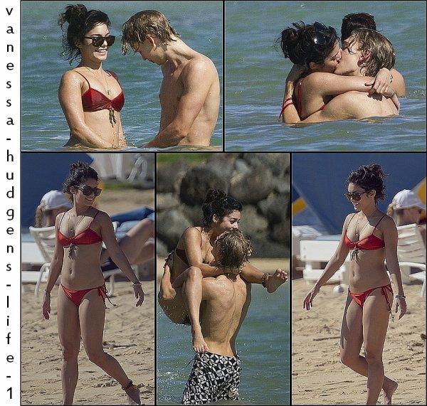 19.01.12: Vanessa et Austin, sur une plage de Hawaï.