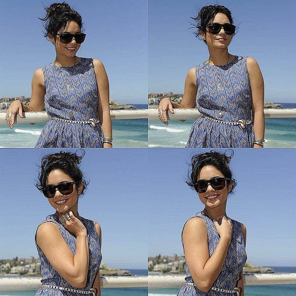 18.01.12: Vanessa et Josh faisant un photocall sur la plage Bondi de Sydney (Australie).