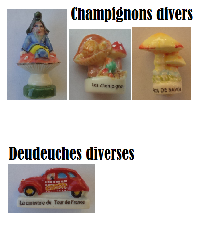 Ma collection Cartes de France et de Corse diverses,Champignons divers,Deudeuches diverses