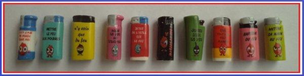 Ma collection: 2014 - Les briquets à message