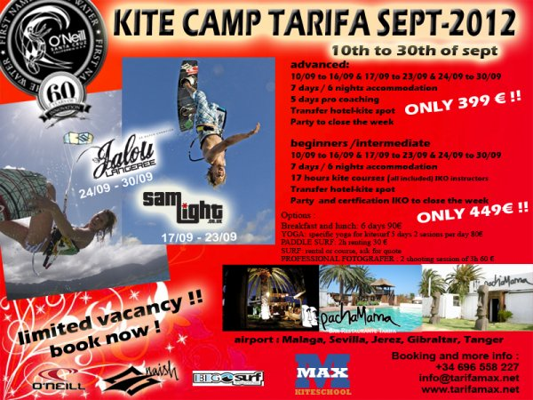 Tarifa kite camp