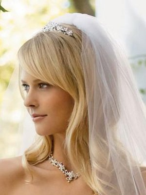 Coiffure Mariage Mi Long Blond Avec Voile Organisatrice Mariages