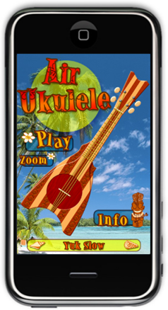 Application iPhone - Air Ukulele