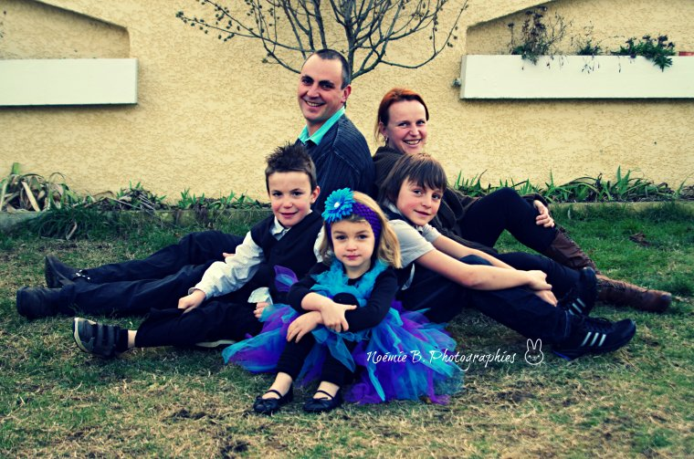 Roger-Pierre, Maryline, Léo, Karl & Lilou