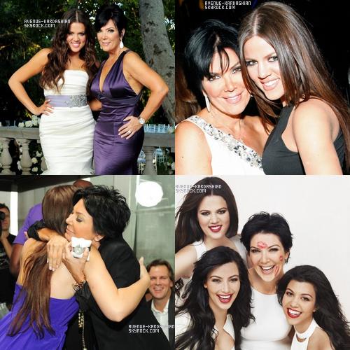 Anniversaires : Après les 31 ans de Kim, l'anniversaire de Bruce et les 16ans de Kendall, aujourd'hui c'est au tour de Kris Jenner de souffler les bougies. Khloe et Kim on donc posté à l'ocasions quelques photos sur leurs sites officiels respectifs.