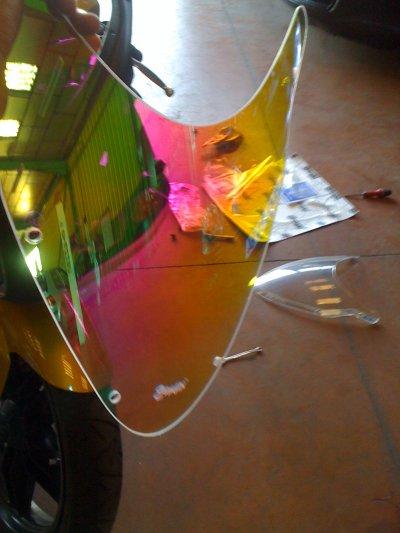 Achat de la Bulle Ermax couleur Iridium ( Caméléon ) et du passage de roue MTKT