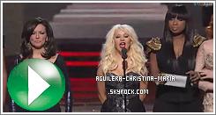 Christina au coulisse lors des Grammy Awards, ravissante !