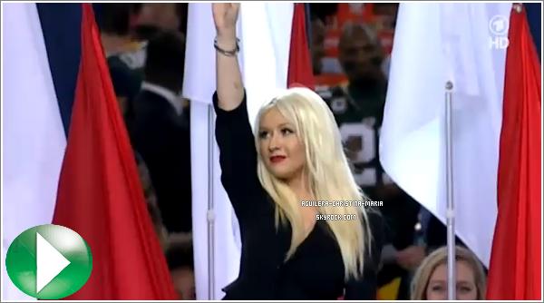 Christina au superBowl, pour moi c'est un TOP, elle est tout simplement magnifique !
