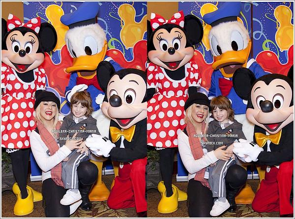 Christina et Max à Disneyland