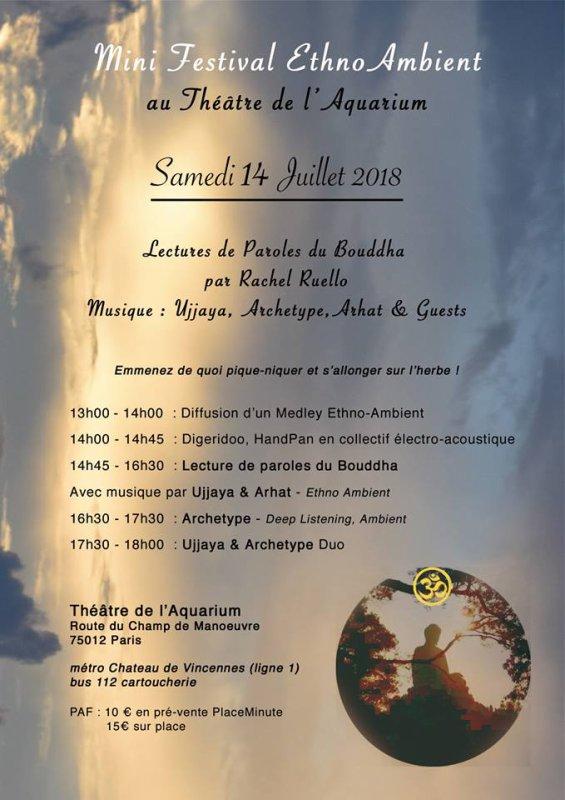 Ujjaya en concert au mini-festival ambient 14/7 à Vincennes pour les paroles de Bouddha