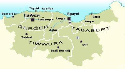 carte de la kabylie