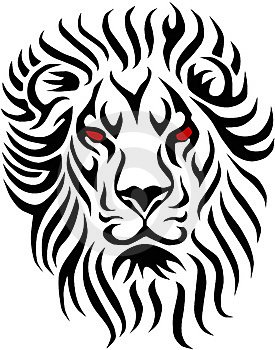 lion en tribal