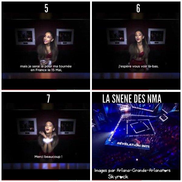 Ariana Grande élue révélation internationale de l'année au NMA 15th édition !!!!!