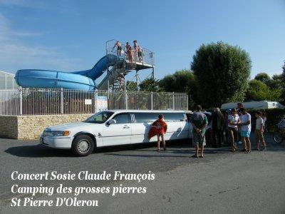 Sosie Claude François en Limousine pour un concert au Camping Les Grosses Pierres à St Pierre D'Oléron