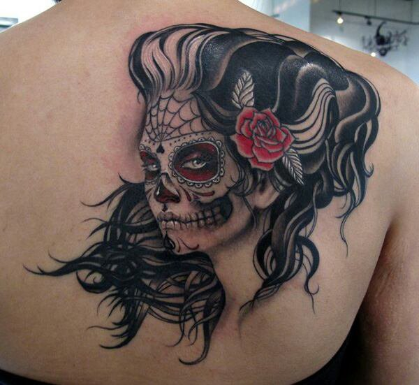 ♡ Skull Girl ♡ Tatouage ♡