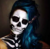 Skull Girl ♥ Make Up ♥ Dark ♥