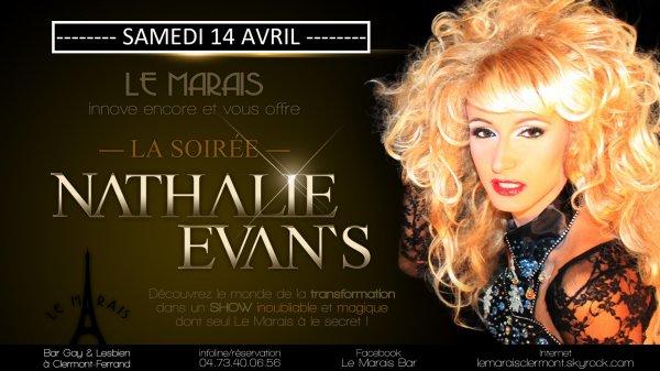 LE GRAND RETOUR DE NATHALIE EVAN' S> 14/04/18