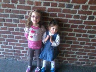 mes nièces Constance et Rosy