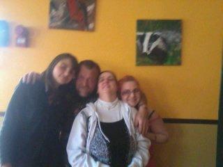 moi avec mes parents et Alexandra