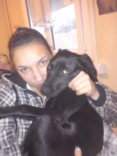 my et ma chienne kenza ki a 5mois