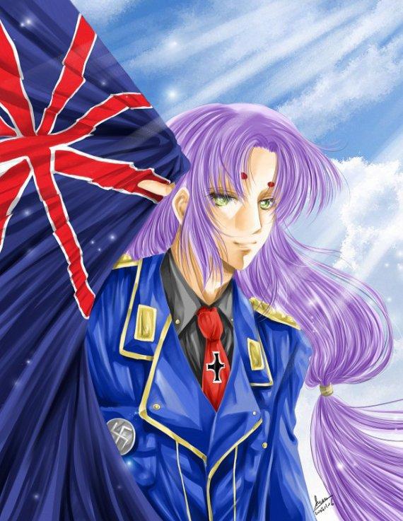 Mu et le fameux drapeau anglais