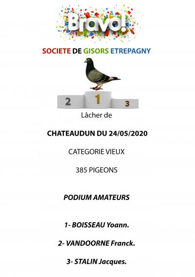 Podium amateur Chateaudun 24/05/2020