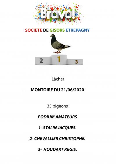 MONTOIRE DU 21/06/2020