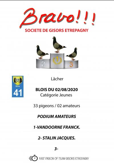 Blois, Podium jeunes et vieux 02/08/2020