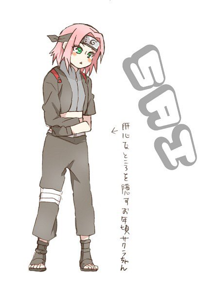 Tenue sur Sakura Haruno.