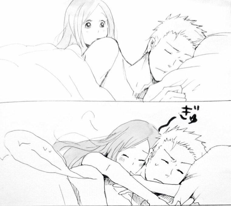 Ichigo and Orihime.